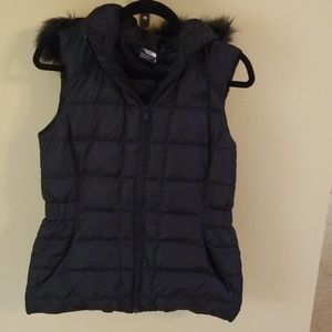 The North Face sleeveless puffer.